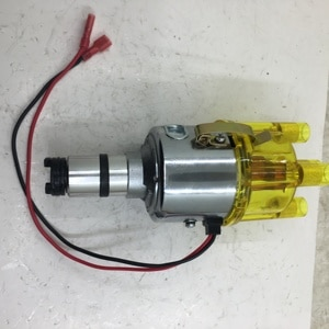 SherryBerg complete electrical CENTRIFUGAL DISTRIBUTOR for EMPI 9428 CHROME 009 STOCK CURVE for VW BUG GHIA THING BUS yellow cap