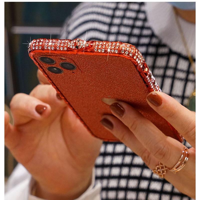 Rhinestone Metal Bumper Case Glitter Diamond Phone Cover For iPhone SE 2020 6S 7 8 Plus X Xr Xs 11 12 Pro Max 12 Mini Case Funda