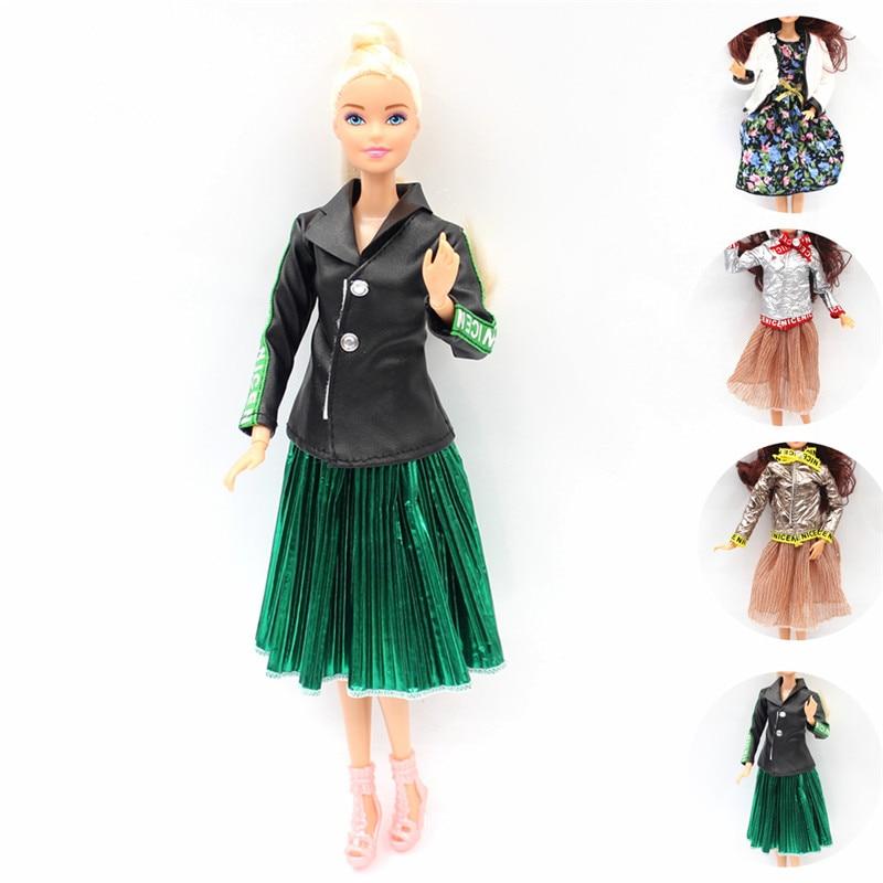 Conjunto de vestido estilo europeo a la moda de Milán, conjunto de traje para Barbie de 11 pulgadas BJD FR ropa para muñeca SD, accesorios para jugar en rollo con casa de muñecas