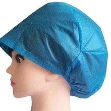 20 pièces couvre-cheveux jetables Non-tissé Anti-poussière de protection couvre-chef de nettoyage médical couvre-oreilles élastiques