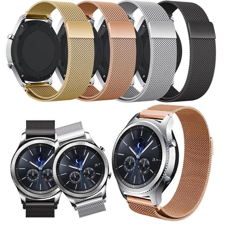 20mm 22mm de Metal de acero inoxidable correa de reloj para Amazfit bip pulsera para Samsung Galaxy ver 46mm 42mm correa de reloj