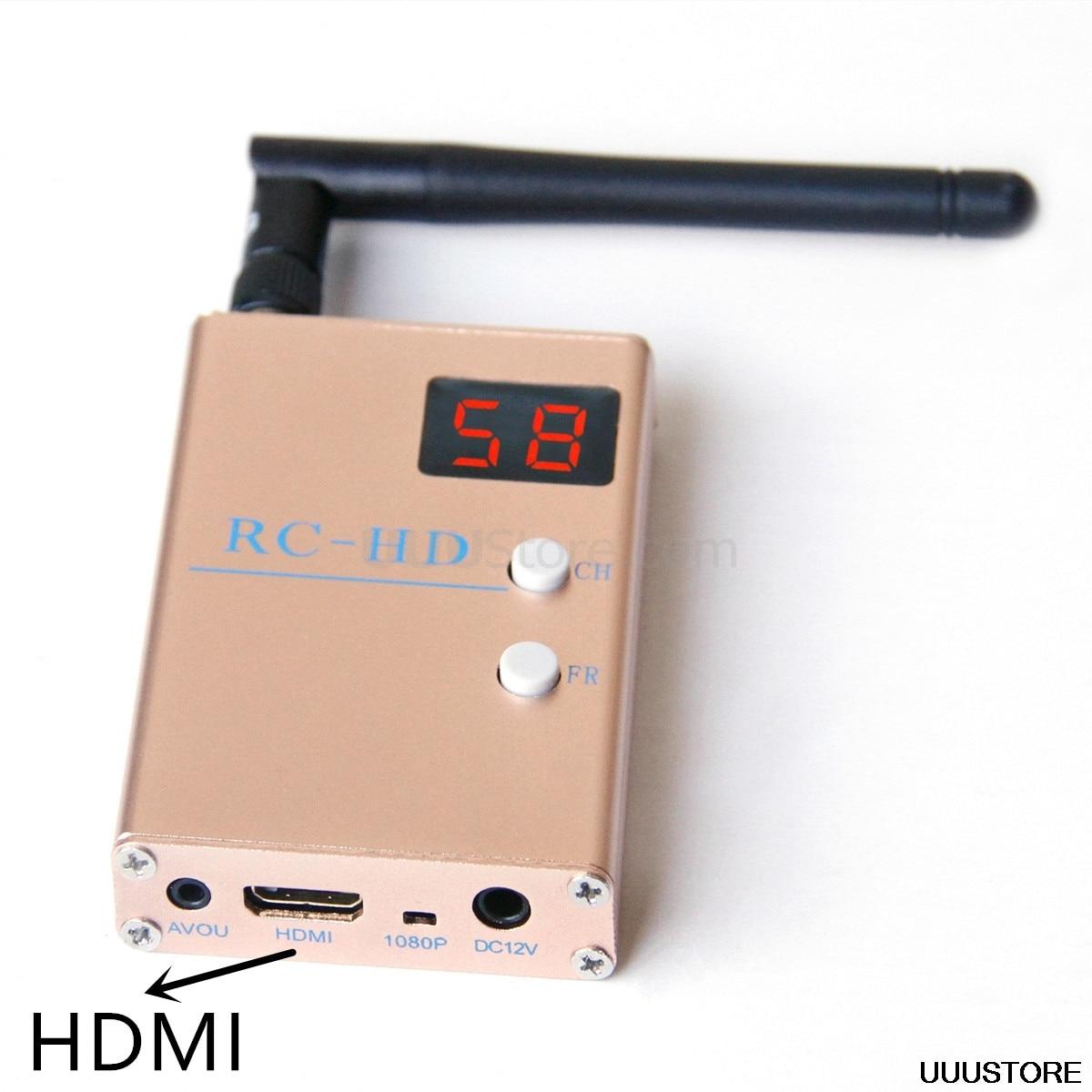 FPV 5.8G 5.8GHz 48CH 48 قنوات RC832HD RC-HD استقبال HDMI مع A/V و الطاقة كابلات ل Quadcopter F450 S500 S550 RC832