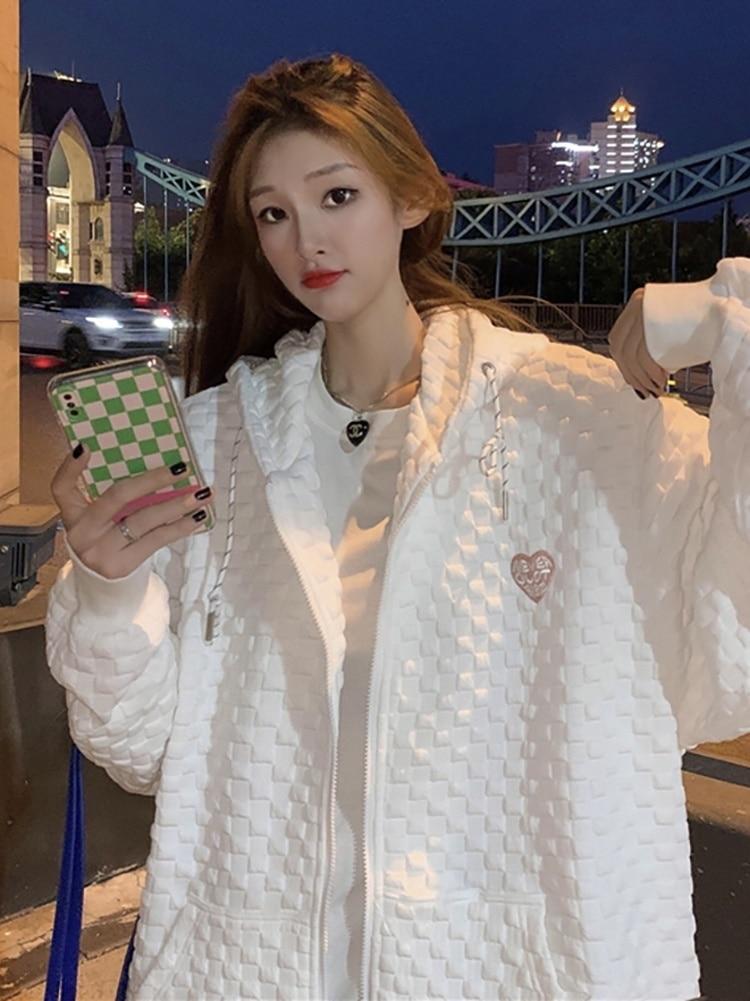 Korean Chic Jacket Women's Early Spring And Autumn Versatile 2021 New Baseball Jacket Oversize Lazy