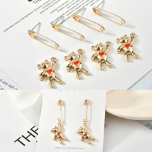 Diy jewelry making 40pcs/lot animals cartoon bears/Pin shape alloy floating locket charms fit earring accessory