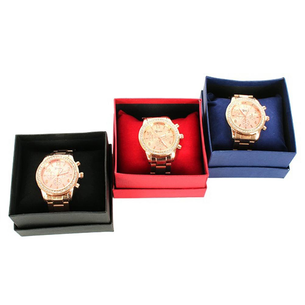 HOT SALES New Arrival Fashion Square Cardboard Storage Case Watch Bangle Jewelry Gift Box with Pillo