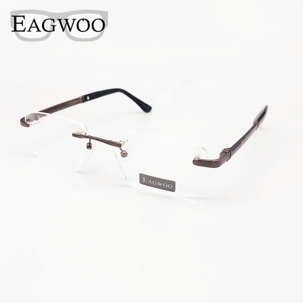 Мужская оправа без оправы, прочная оправа для очков по рецепту, безрамные очки для широкого лица, весенние дужки