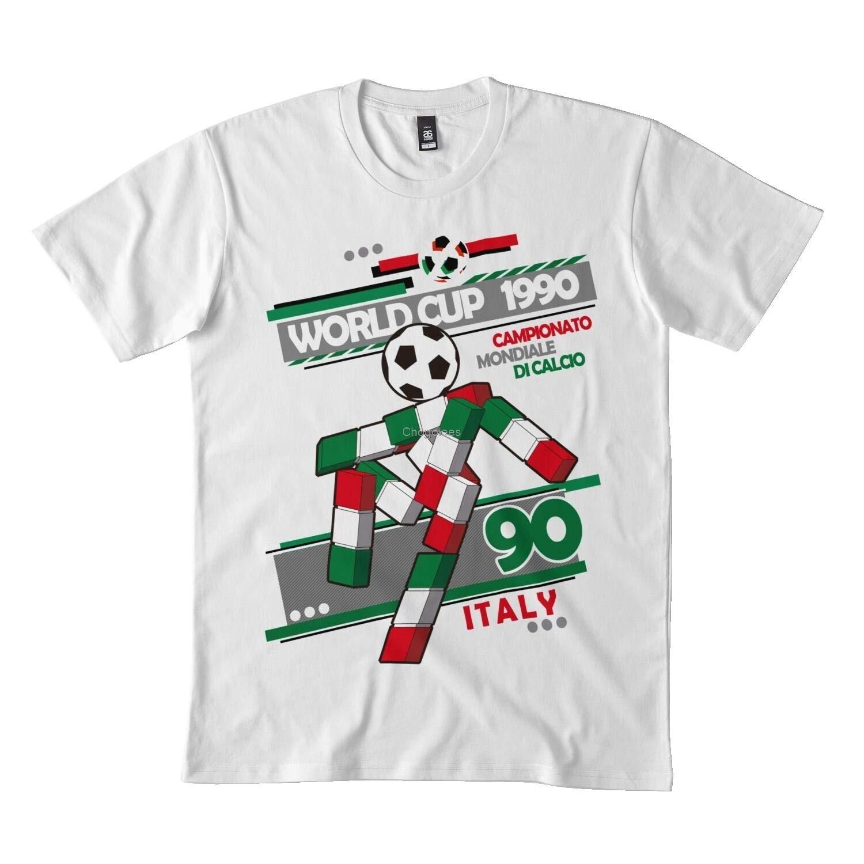 Ciao-Camiseta clásica de Italia 90 camisa negra de 173DMN