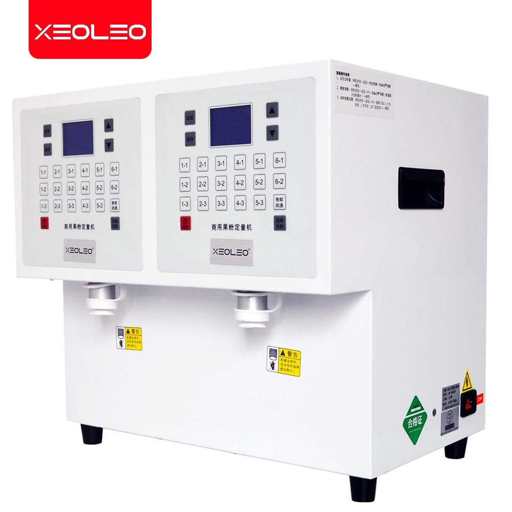 XEOLEO 17 شبكة مسحوق آلة قياس آلة الكمية مسحوق السكر آلة الجرعات 3.5L * 2 مسحوق موزع آلة للكاكاو