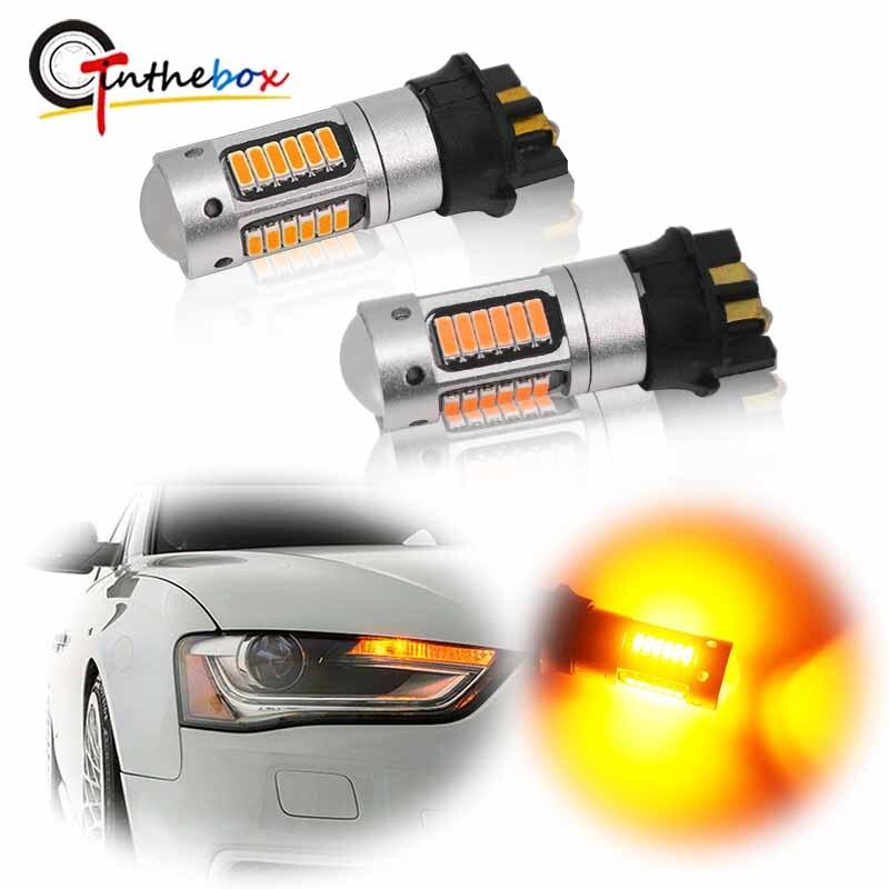 Gtinthebox Canbus PW24W PWY24W Led-lampen Für Audi BMW Volkswagen Blinker Licht Tagfahrlicht DRL Bernstein gelb Weiß