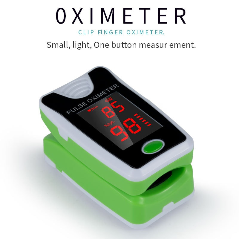 FEOOE Household Digital Finger Pulse Oximeter Blood Oxygen Saturation Meter Heart Rate Monitor Health Care Tonometer KWL