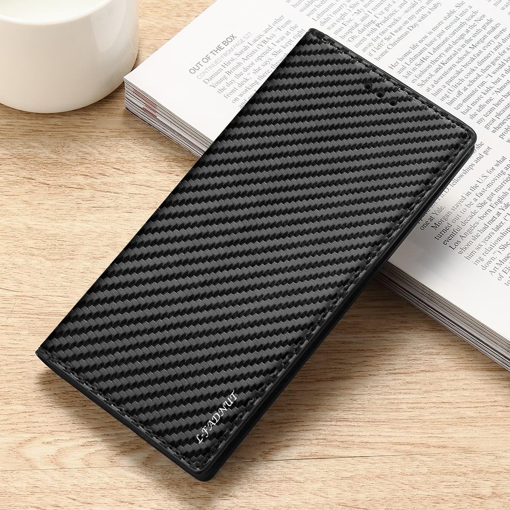 Тонкий чехол-книжка из углеродного волокна для Samsung S20 Ultra S10 Plus S10E S8 S7 Edge S6 S5, чехол-бумажник для телефона Galaxy S20 FE S9 Plus
