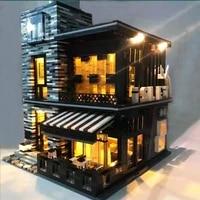 86008 street view series pub restaurant modular islet building blocks bar club bricks idea 3d model club toys for boy gifts