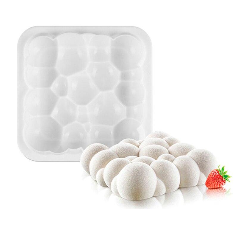 1 полость неправильной формы в форме облака форма для торта, Мусса 3D десерт Мыло Свеча Форма для украшения инструмент для выпечки
