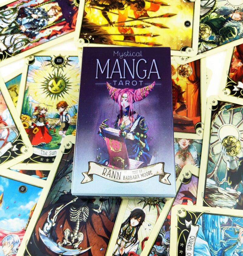 Tarjetas de oráculo de Manga Tarot, 78 Uds., Mistical, con Guidebook para Fortune Telling