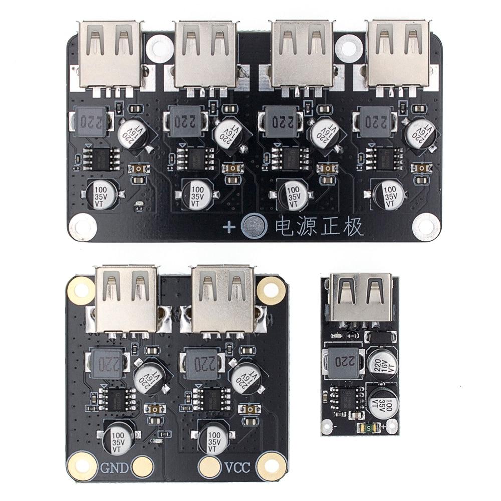 USB QC3.0 QC2.0 DC-DC Buck convertidor de carga de módulo de reducción 6-32V 9V 12V 24V a rápido cargador rápido de la placa de circuito 3V 5V 12V
