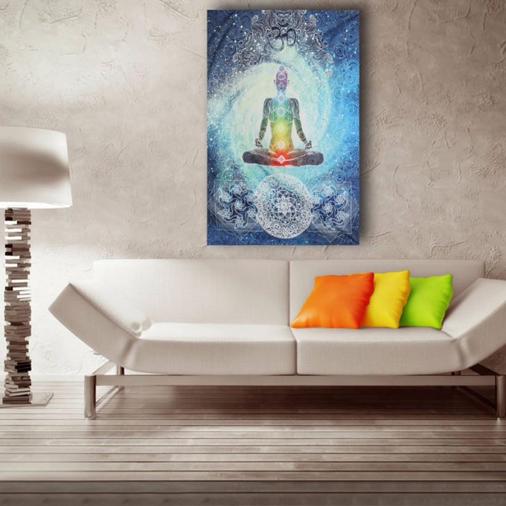 Estatua de Buda tapiz de playa poliéster Hippie manta colgante Mandala India tapiz decoración del hogar