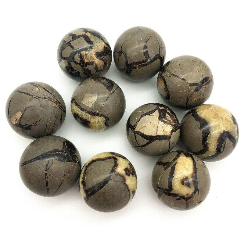 Bola de cristal de dragon septarian, piedras naturales y minerales de cristal,...