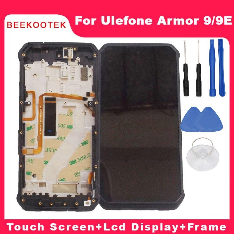 جديد الأصلي Ulefone درع 9 شاشة الكريستال السائل وشاشة تعمل باللمس + الإطار بصمة الجمعية استبدال للهاتف Ulefone درع 9e£