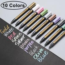 Méthdic 10 pièces/lot marqueurs métalliques peintures stylos pour papier noir