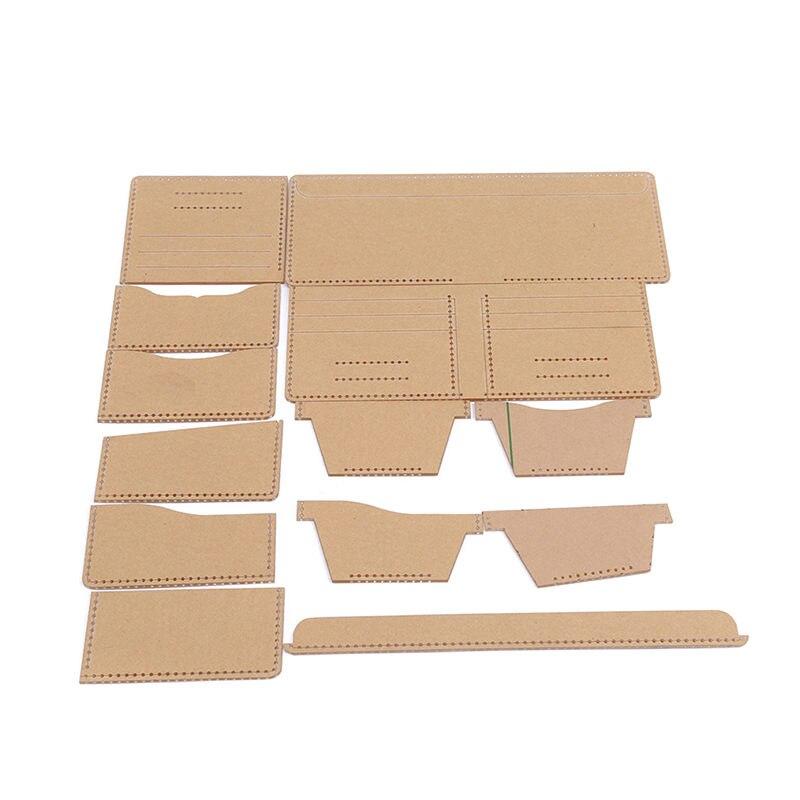 Nützliche Heißer Universal Leder Handwerk Kurze Stil Geld Clips Tasche Frauen Brieftasche Nähen Muster Fest Kraft Papier Schablone Template