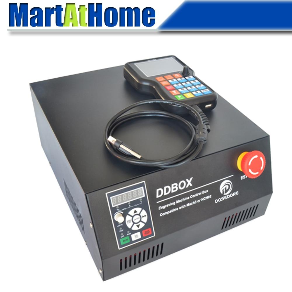 DDBOX 4 محور نك راوتر صندوق التحكم 220 فولت ث/1.5KW فد و NCH02 حاليا مقبض تحكم دعم U-القرص لديي نك راوتر آلة
