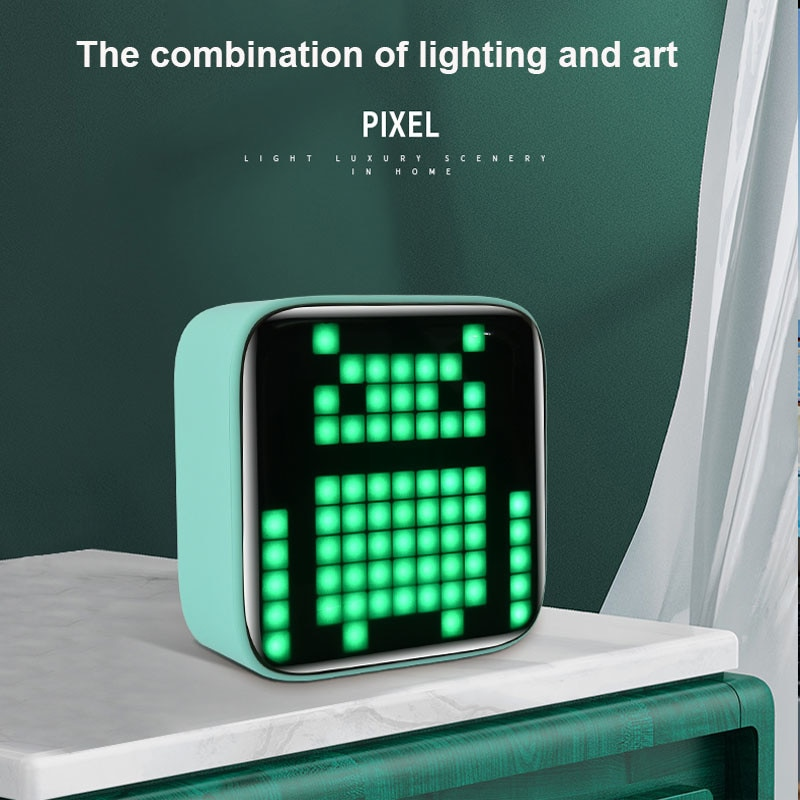 LED Displays Portable Speakers Bluetooth Powerful Bluetooth Speaker Pixel Art Creation Unique Gift Soundbar enlarge