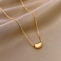 trend original design geometry beans necklace for women chain creativity pendant jewelry choker gift wedding party ins hot gift