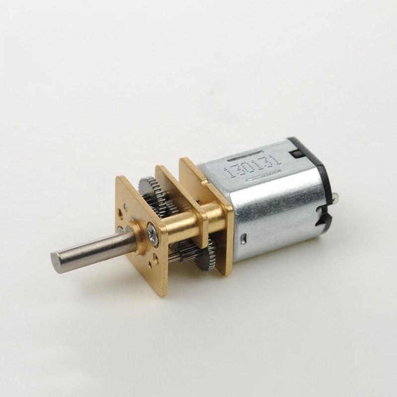N10 DC 3V 80RPM Mini reducción completa motorreductor de Metal Micro engranaje para Motor reductor de velocidad DIY Robot de coche inteligente