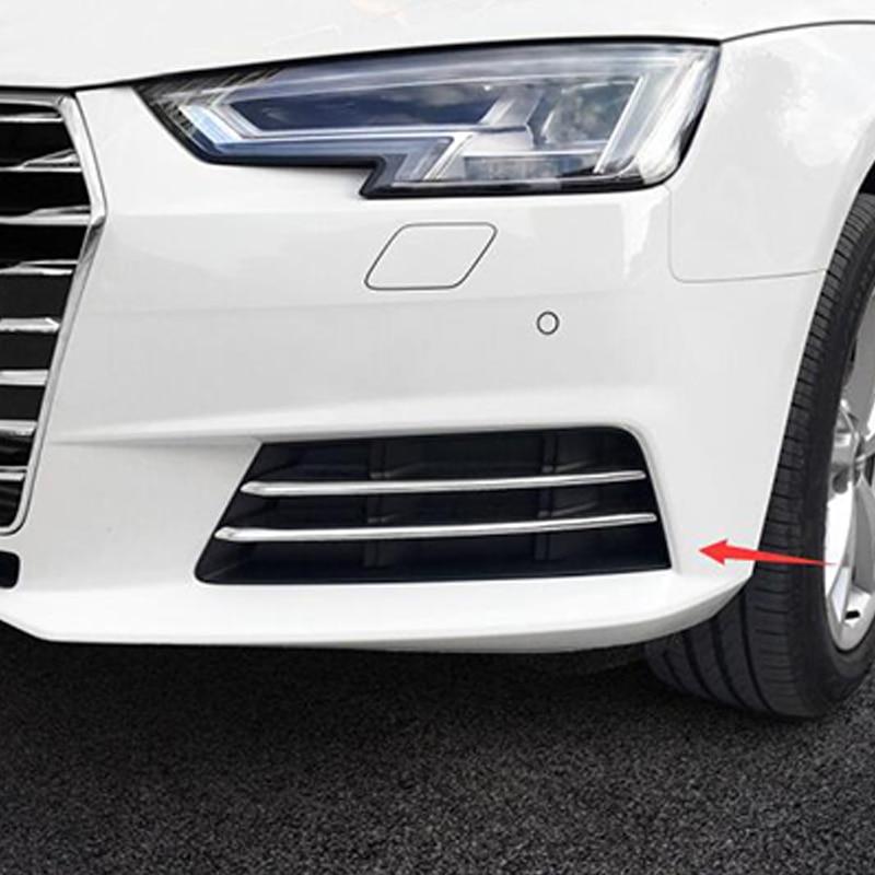 ABS כרום לאאודי A4 b9 2016 2017 אביזרי רכב מול ערפל מנורת אור רצועת מסגרת כיסוי Trim פנל מדבקה פאייטים 4pcs