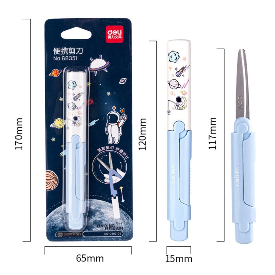 YHSMTG Cartoon Portable Scissors Cute Cawaii Kids Scissors Kawaii Stationery Diy Scrapbook Paper Diary Craft Decorating Tools