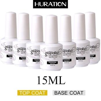 Huration Neue Basis + Top Coat Gel Nagellack Farbe Top Basis Mantel Gel Lack UV Tränken-weg Semi-dauerhafte Lack Gel Nagellack