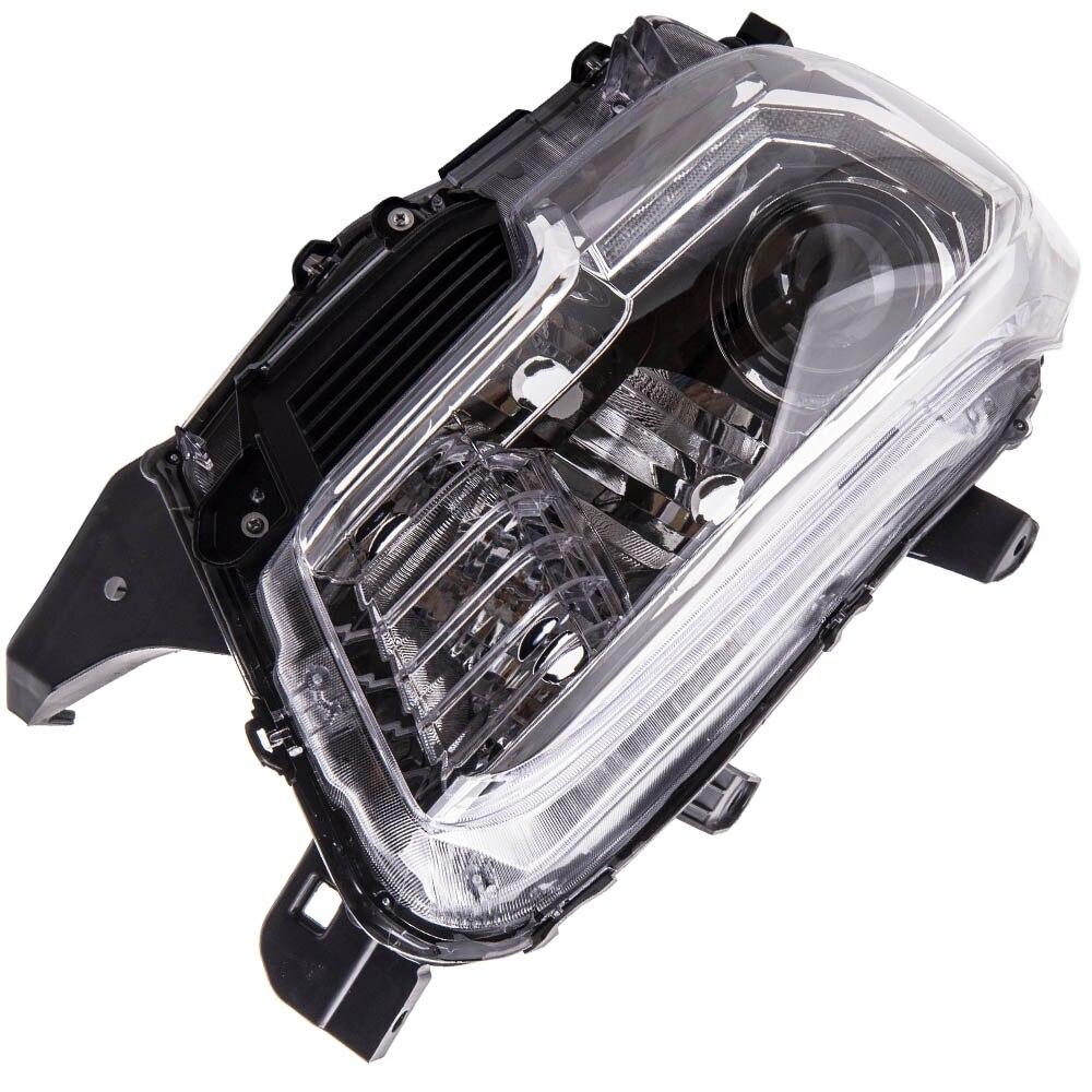 LED DRL الأسود المصابيح الضوئية المصابيح الأمامية لتويوتا تاكوما TRD 2016-2019 TO2502244 ، TO2503244