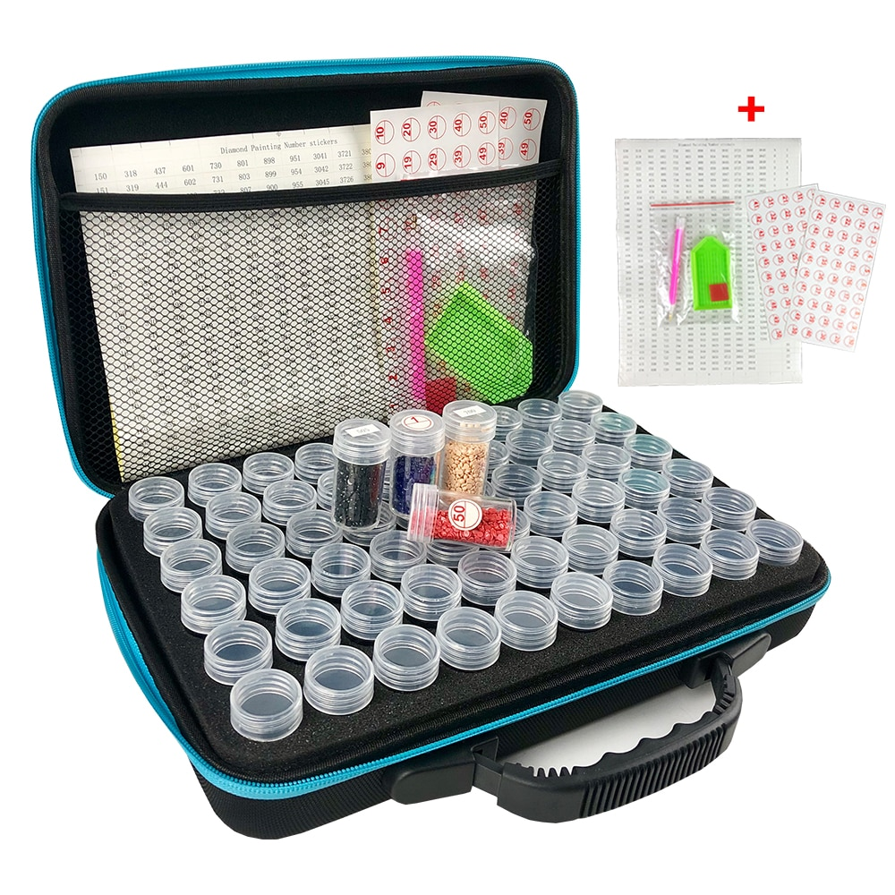 15/30/60/120 Bottles 5d Diamond Painting Accessories tools Storage Box Carry Case diamant painting t
