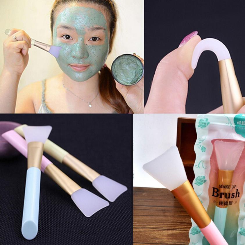 OutTop 2018 mujeres Maskup Facial herramientas belleza maquillaje base pincel de silicona blanda 05,16