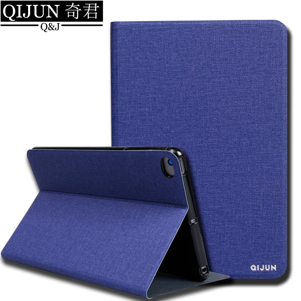 "Funda abatible de tableta para Huawei MediaPad M5 8 8,4 ""Soporte de cuero PU funda de silicona suave funda de tarjeta de capa bolsa para SHT-W09/AL09"