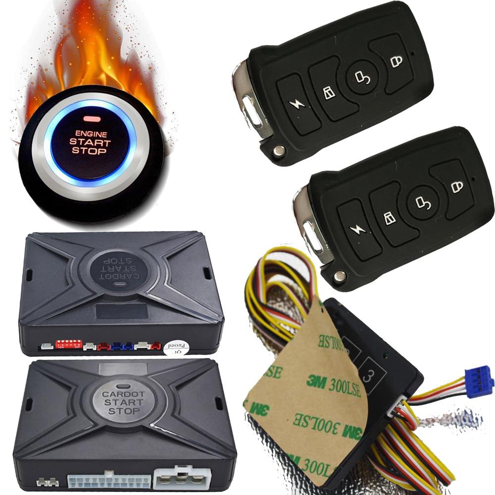cardot best remote push Start Stop engine Smart Car Alarms Keyless Entry system