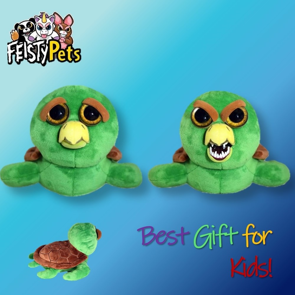 Feisty Pets toys stuffed plush angry animal adorable doll gift turtle