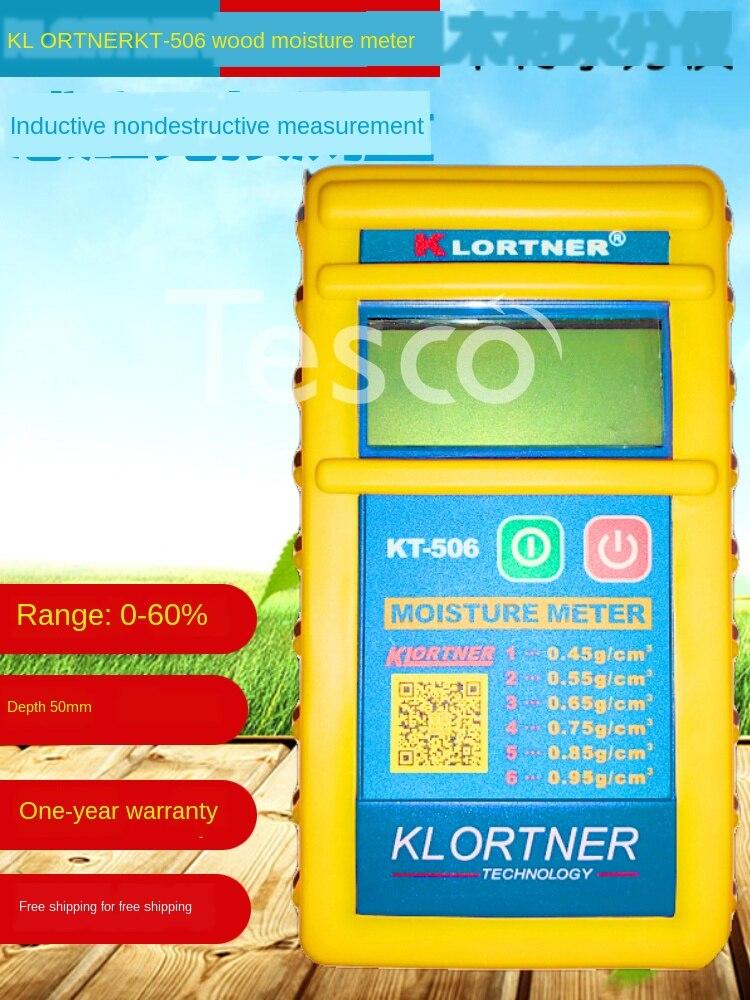 Medidor de humedad de madera por inducción de KT-506 medidor de agua KLORTNER con detección de humedad de suelo de madera