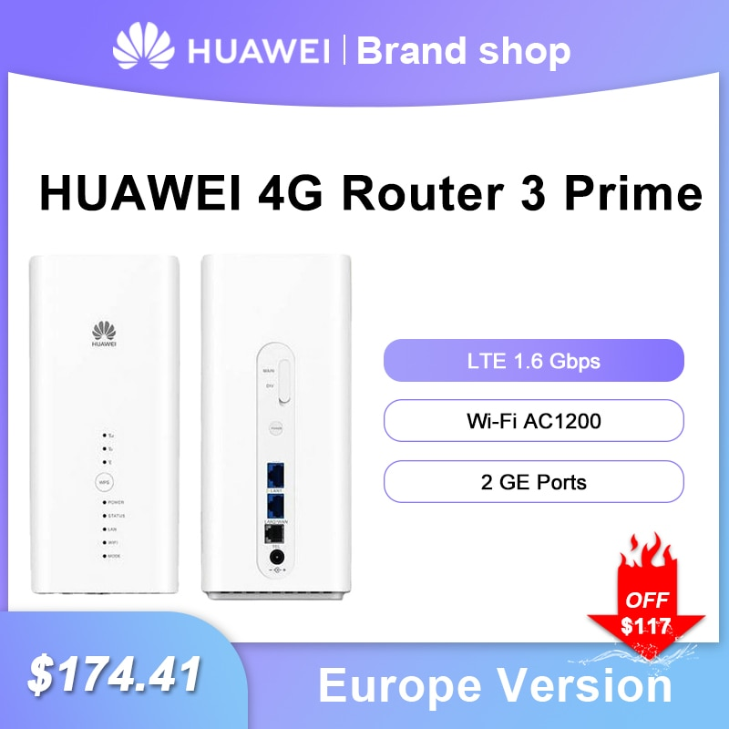 Unlocked Huawei 4G Router B818-263 Global Version Cat19 Up to 1.6Gbps Huawei LTE CPE WiFi 2.4G 5G Router With Sim Card Slot