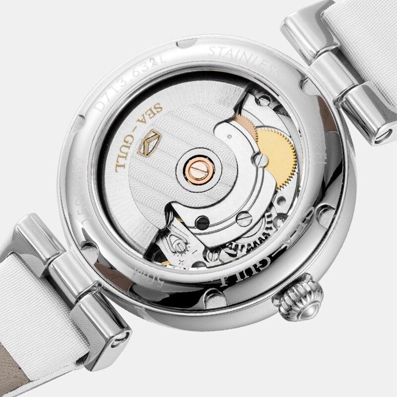 Seagull watch ladies automatic mechanical watch fashion diamond watch calendar belt waterproof watch D713.633L enlarge