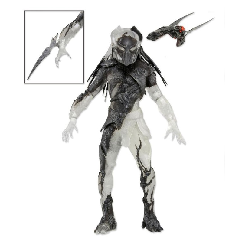 Falconer-figura de acción depredadora Aliens, juguete de modelos coleccionables con cuchilla de...