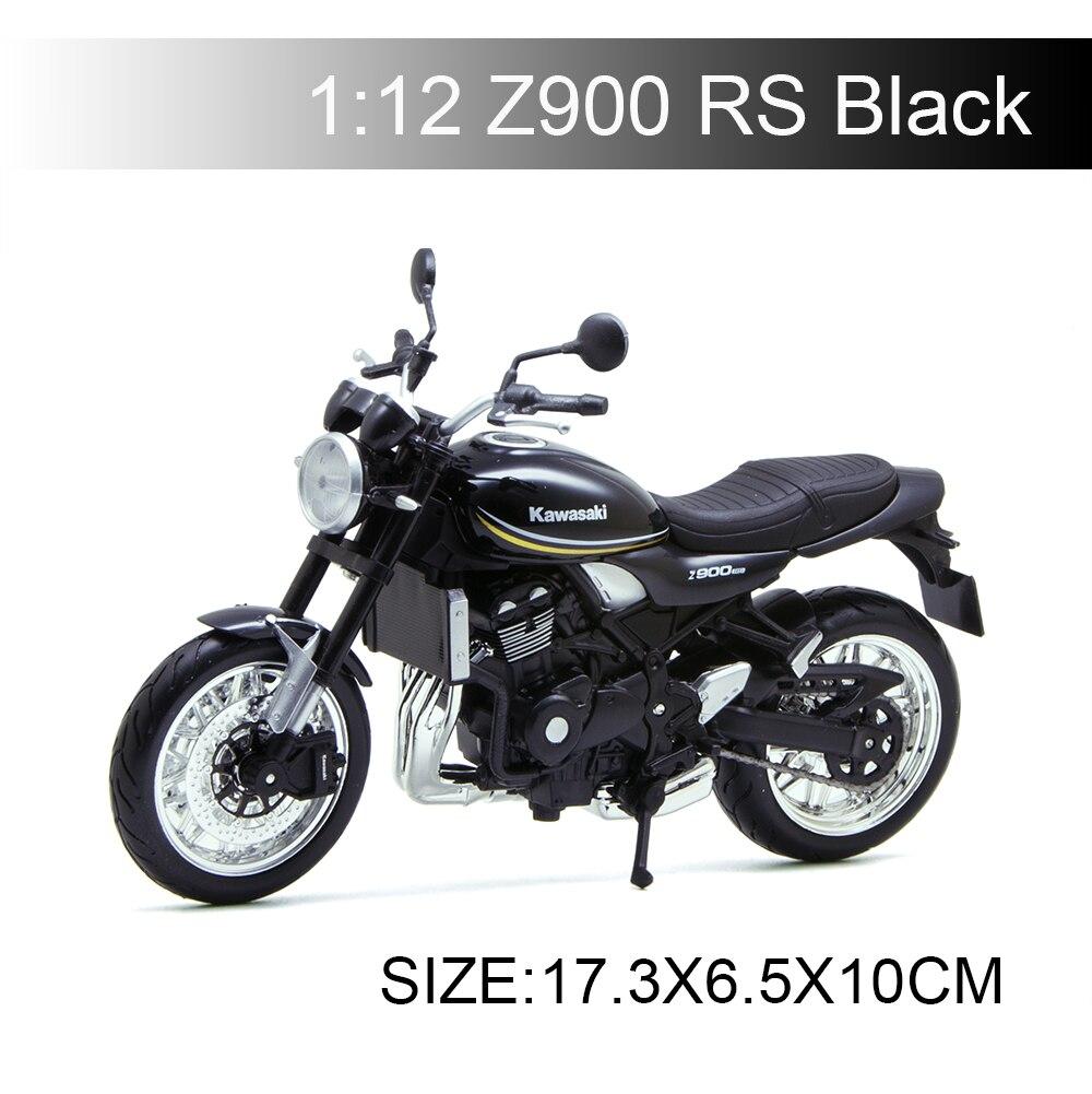 MAISTO 112 Kawasaki Z900 RS Black112, motocicleta de Metal fundido a escala, juguete de carreras en miniatura para colección de regalos