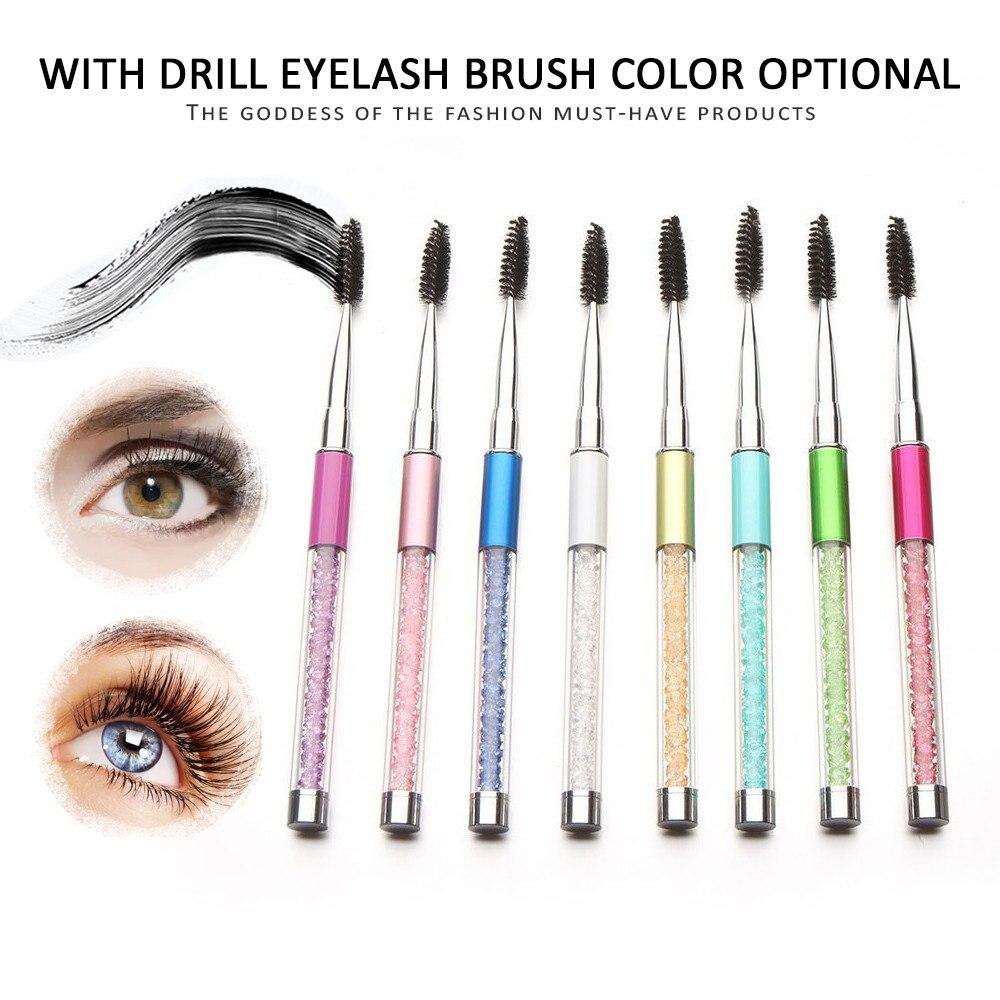 1PCSHigh calidad cristal pestañas cepillo máscara varitas aplicador Spoolers maquillaje