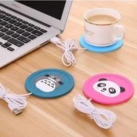 new usb warmer gadget cartoon soft silicone thin insulation heating cup pad coffee tea drink usb heater tray mug pad nice gift