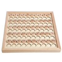 wooden hundred board game toys 1 to 100 consecutive numbers for montessori math educational learning for children
