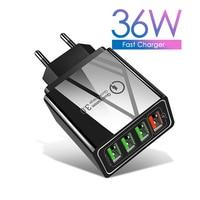 ILEPO USB зарядное устройство Quick Charge 3,0 телефонный адаптер для iPhone 11X7 Xiaomi Tablet Портативный Мобильный Быстрая зарядка usb-зарядка европейского и ам...