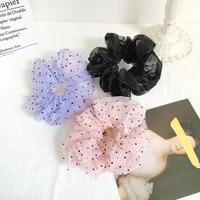 organza big hair scrunchie girls elastic hair rubber bands accessories gum for women tie hair ring rope ponytail holder gum