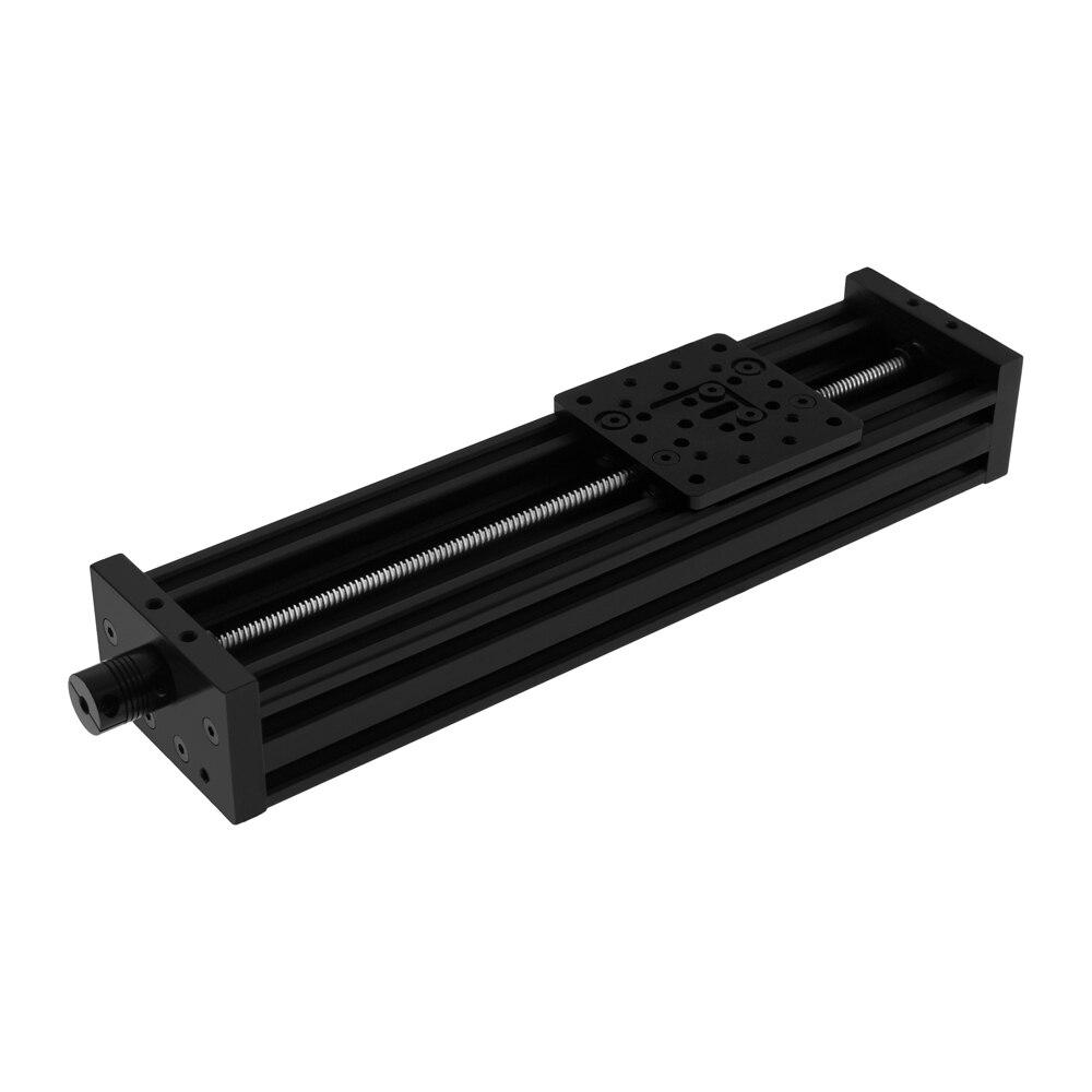 Nuevo 4080U 8mm 250mm/300mm/350mm40 0mm/450mm carrera perfil de aluminio tornillo de eje Z juego de actuador lineal de corredera de mesa para enrutador CNC