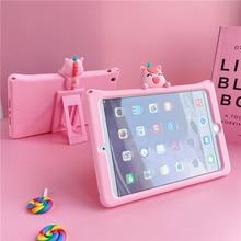 3D dessin animé mignon étui pour iPad 10.2 étui 2019 housse de tablette pour iPad mini 1 2 étui Fundas Film licorne pour iPad 2 3 4 5 6 Air 1 2