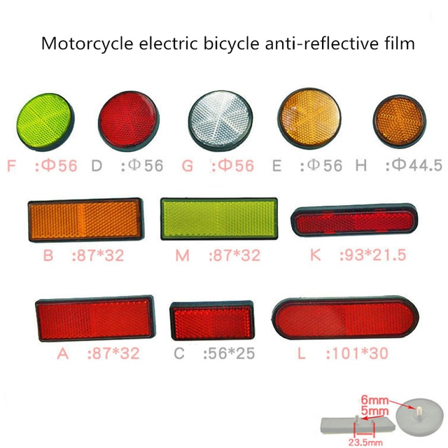 1Piece Hot Rectangle Round Car Motorcycle Bike Caravan Truck Screw On Safety Reflector Car Stickers Car Exterior Accessories